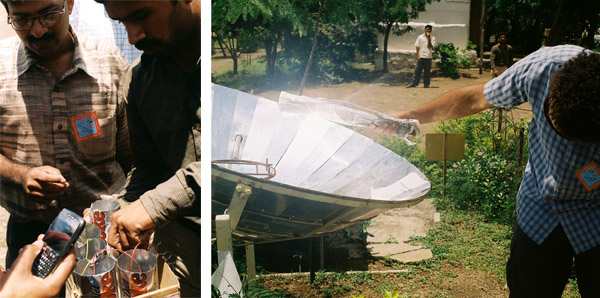 solar cooker and biofuel cells