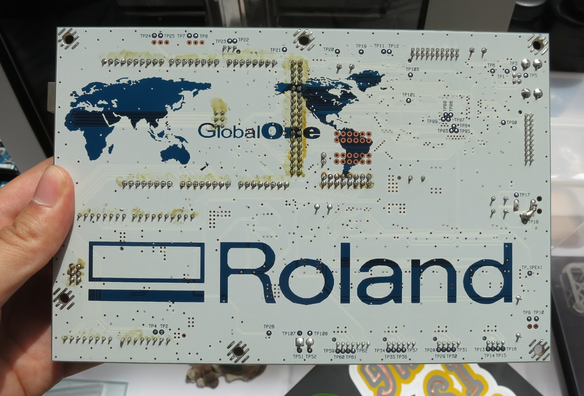 Roland Mainboard Back